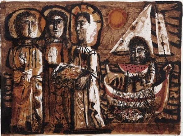 Antoni Clavé -Les Saintes-Maries 1950-51