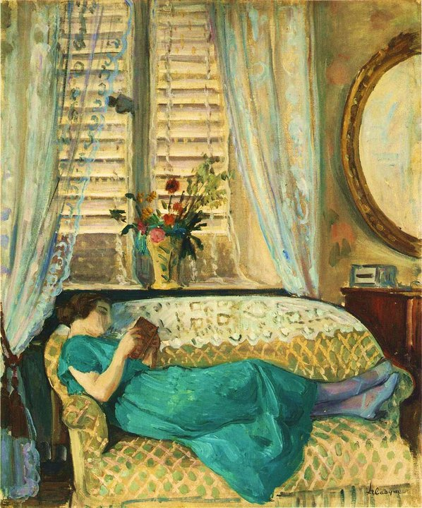 Henri Lebasque -Woman reading