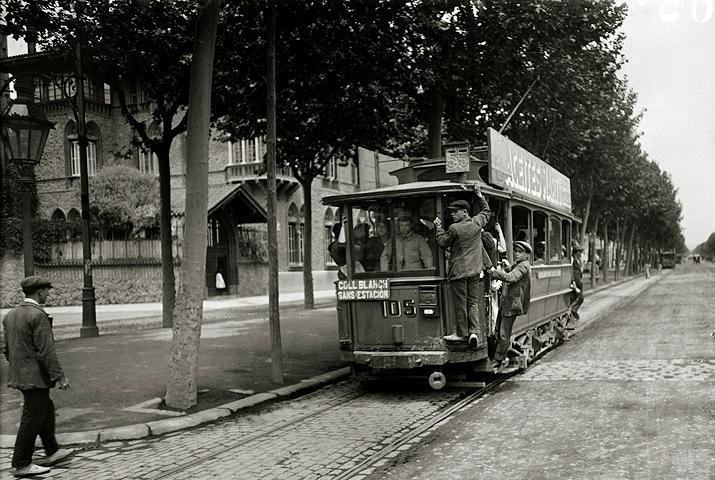 Branguli fotògraf -Tramvia a  Collblanc 1920
