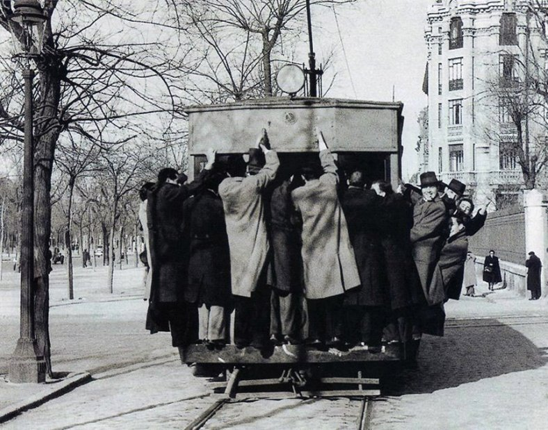Tranvía en Madrid 1941