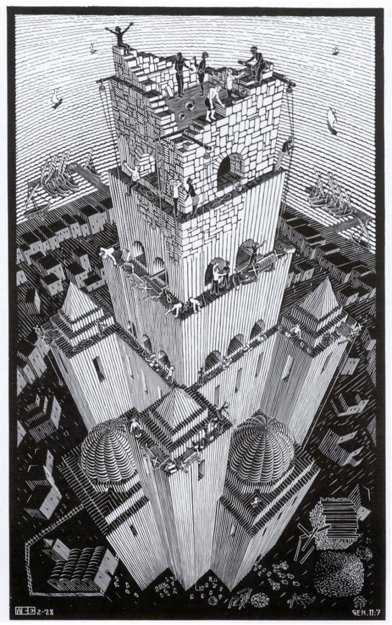 Escher -Tower of Babel 1928