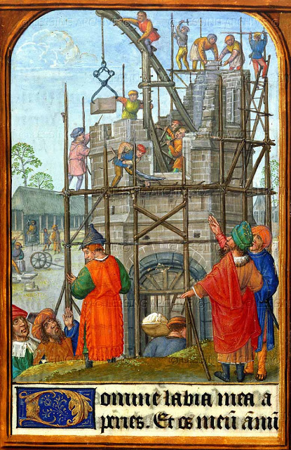 The Building of the Tower of Bable - Book of Hours - 1475-1500