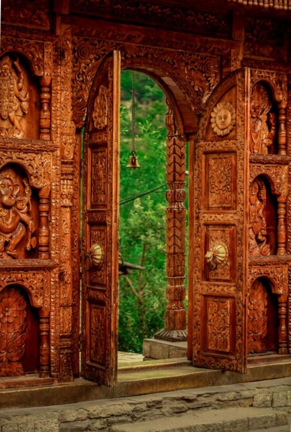 Door in Kamru Fort  -Kinnaur  India