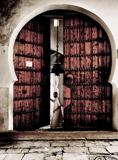 Fes -Marroc  Porta de mesquita