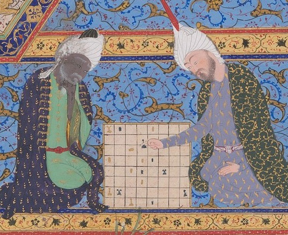 Detail from Buzurjmihr Masters the Game of Chess, Folio from the Shahnama (Book of Kings) of Shah Tahmasp