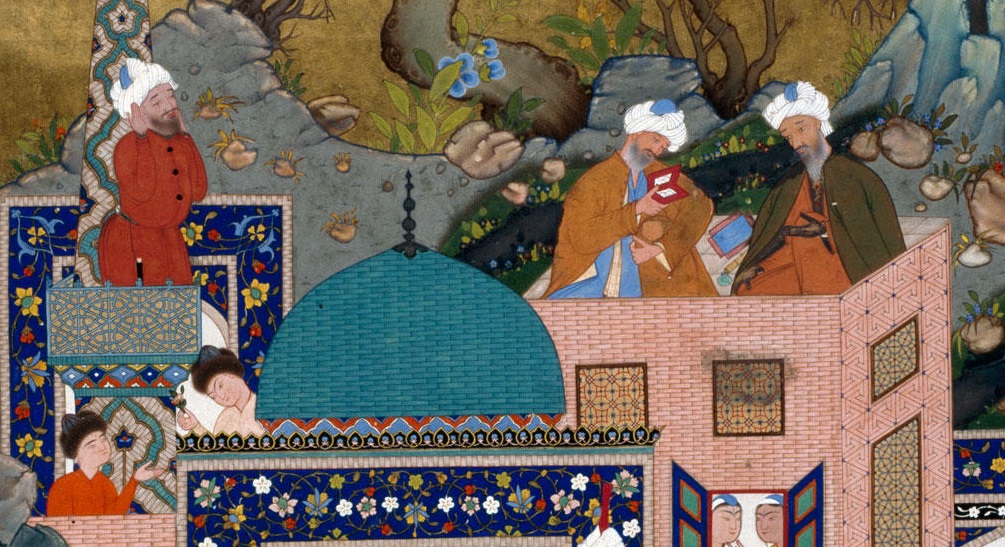 The story of Haftvad and the worm, folio from Shahnameh of Shah Tahmasp -Tabriz  Iran bis