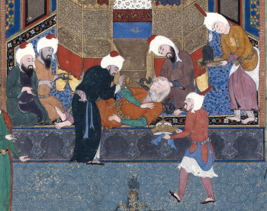 Zahhak is Told His Fate -Folio 29v from the Shahnama (Book of Kings) of Shah Tahmasp 2