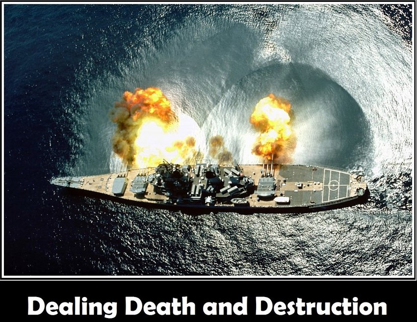 Dealing death and destruction by Deric Wadleigh