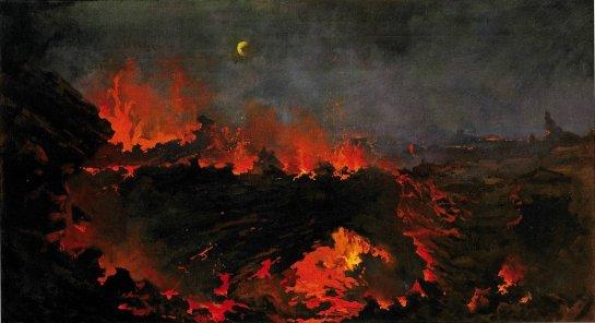 Jules Tavernier -Volcano of Kilauea' 1887