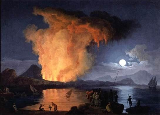 Pierre-Jacques Volaire -View of the Eruption of Mount Vesuvius