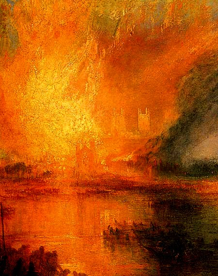 Turner -The burning of the houses of Parliament 1834 detail