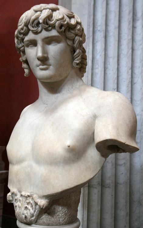 Bust de Antinoo trobat a la vila d'Adrià