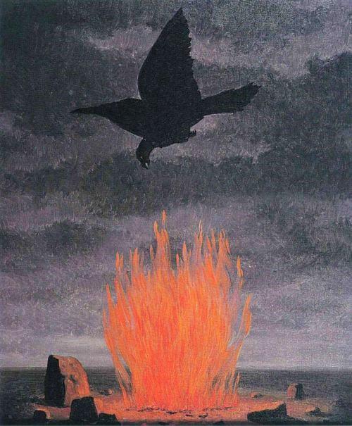 René Magritte -The fanatics 1955