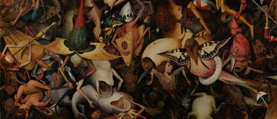 Bruegel -The Fall of the Rebel Angels detail 1562
