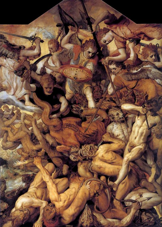 Frans Floris -The Fall of the Rebellious Angels Flemish 1554