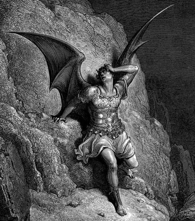 GustaveDore Paradise Lost  Satan Profile