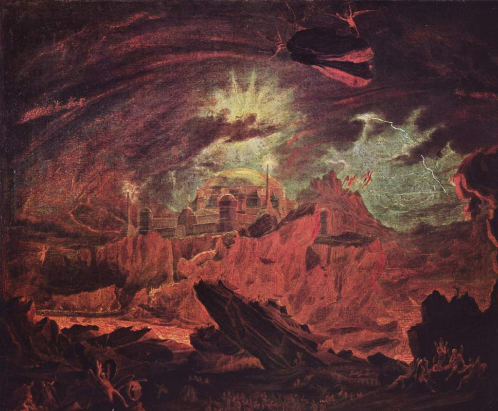 John Martin -Fallen Angels in Hell 1841