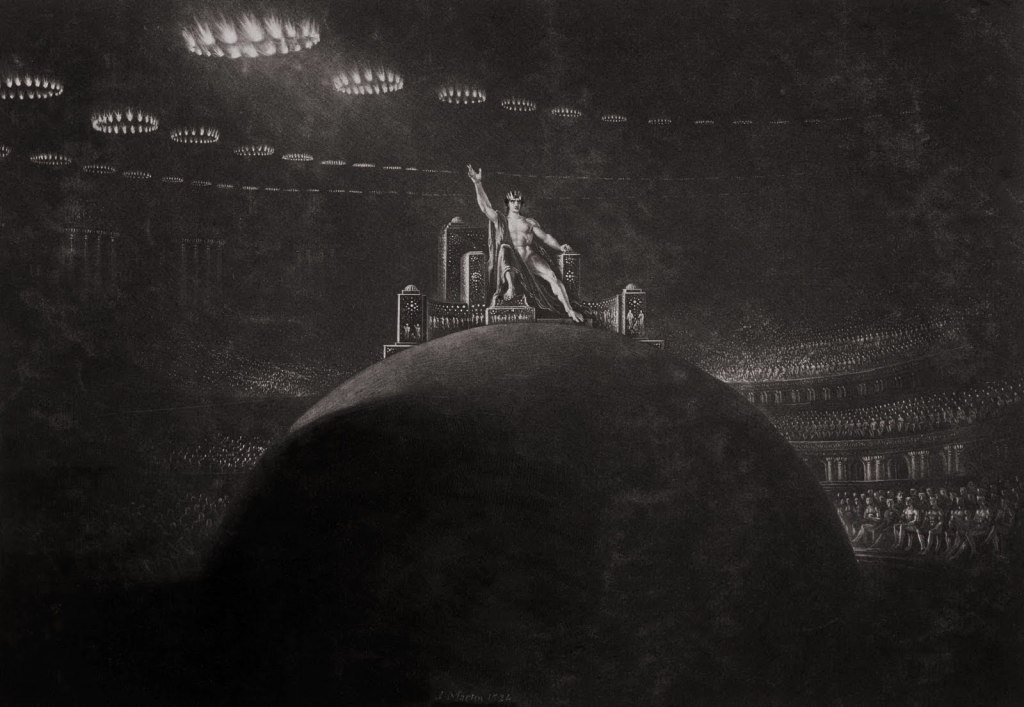 John Martin -Satan Presiding at the Infernal Council, c.1823–27