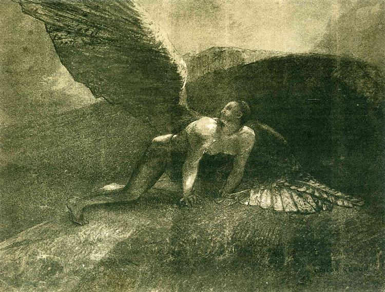 Odilon Redon -Fallen angel-1872