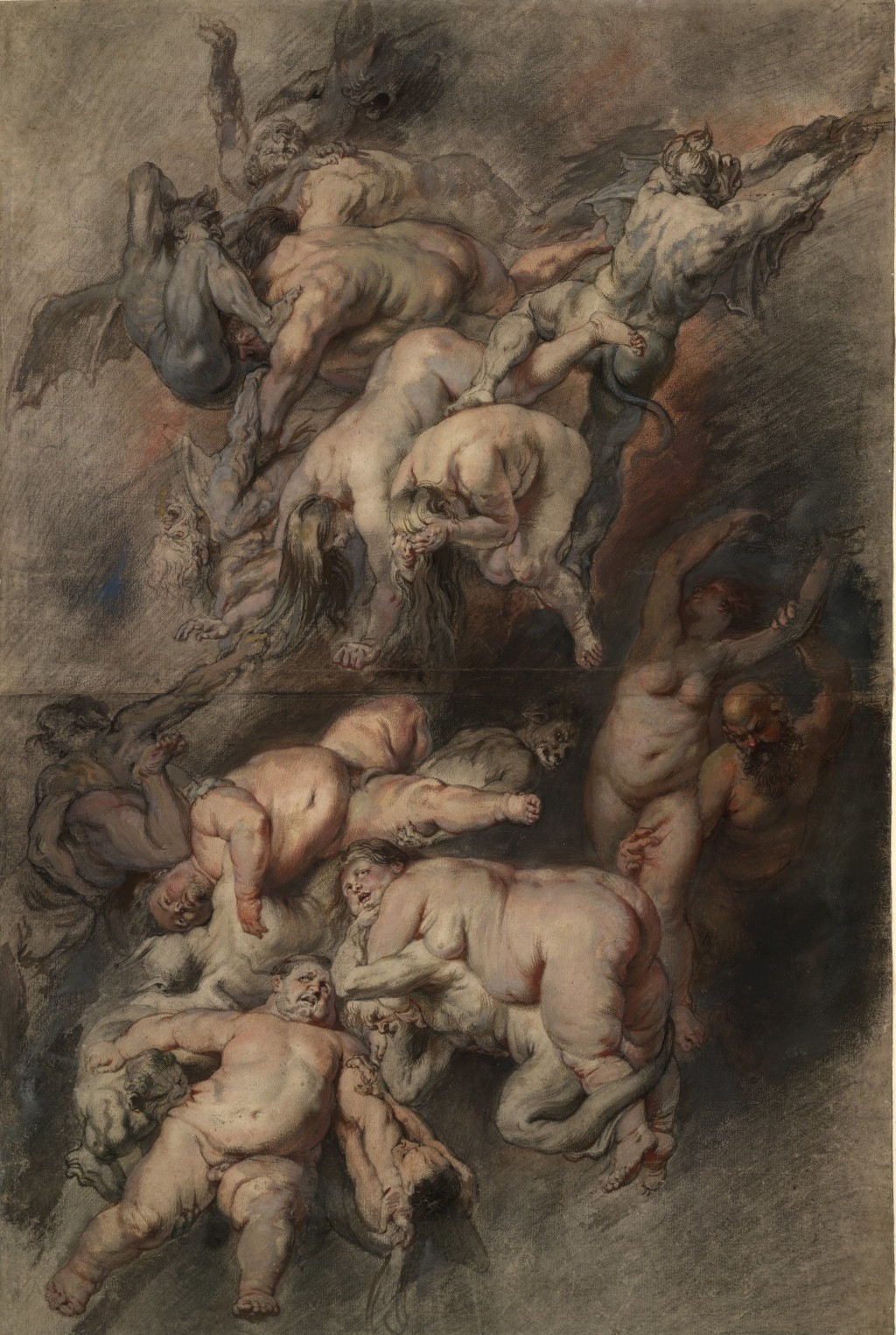 Peter Paul Rubens -Study for the Fall of the Damned, c.1614-18