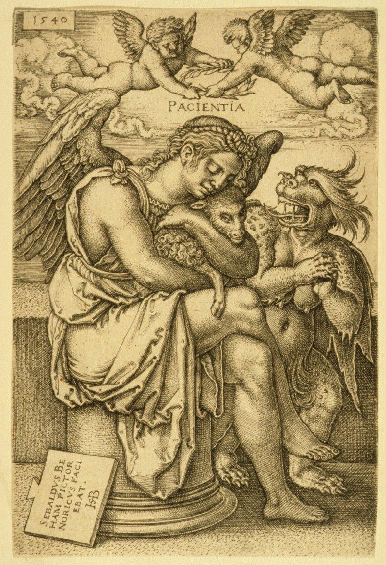 Hans Sebald Beham -Pacientia 1540