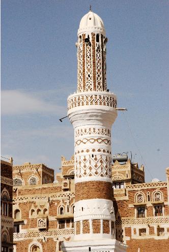 Minaret de Sana'a Yemen -Foto de Tona Romeu