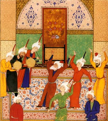 Sama -Miniatura persa del s. XV Dervishes danzando