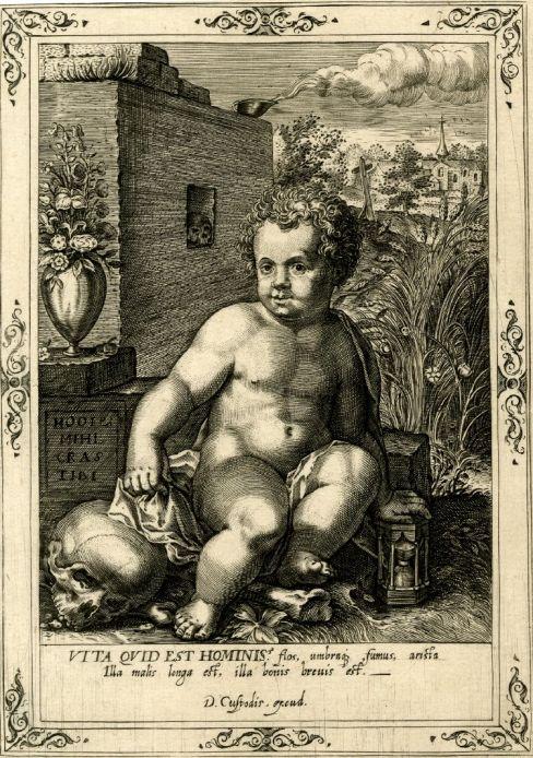 01 Memento mori by the Flemish engraver Dominicus Custos of c.1600 British Museum