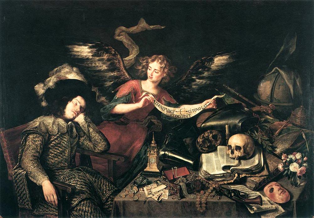 Antonio de Pereda -El sueño del caballero 1660