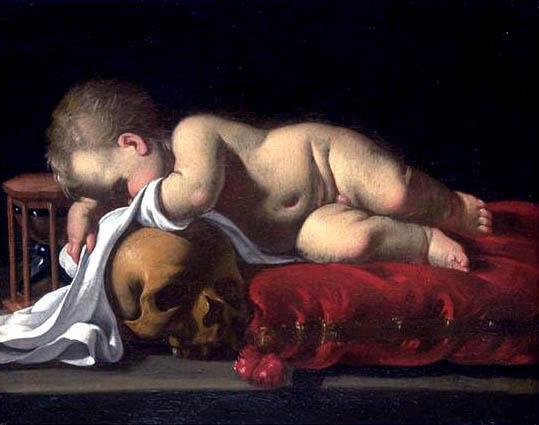 Attribué à Luigi MIRADORI dit GENOVESINO (1605-1656 ) -Memento mori
