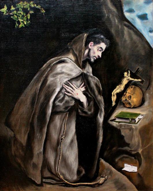 El Greco -St. Francis kneeling in meditation ca.1595-1600