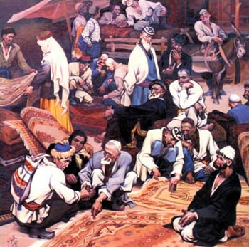 Ghazi Emet -Bazar or Carpets and Uighurs