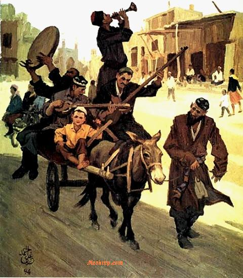Ghazi Emet -Donkey cart music on Kashgar street