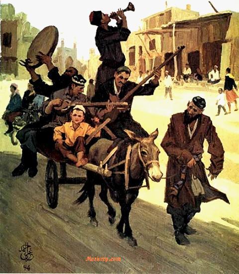 Ghazi Emet -Donkey cart music on Kashgar street