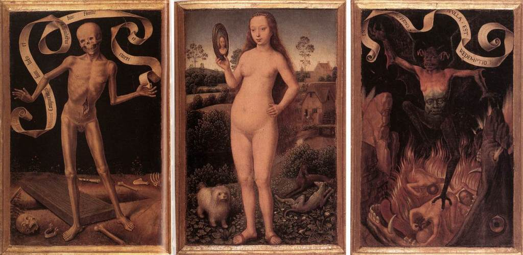 Hans Memling -Triptych of Earthly Vanity and Divine Salvation