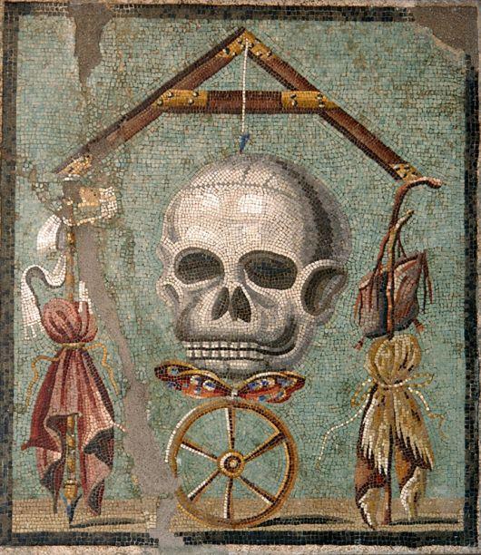 Roman Memento Mori mosaic from Pompeii