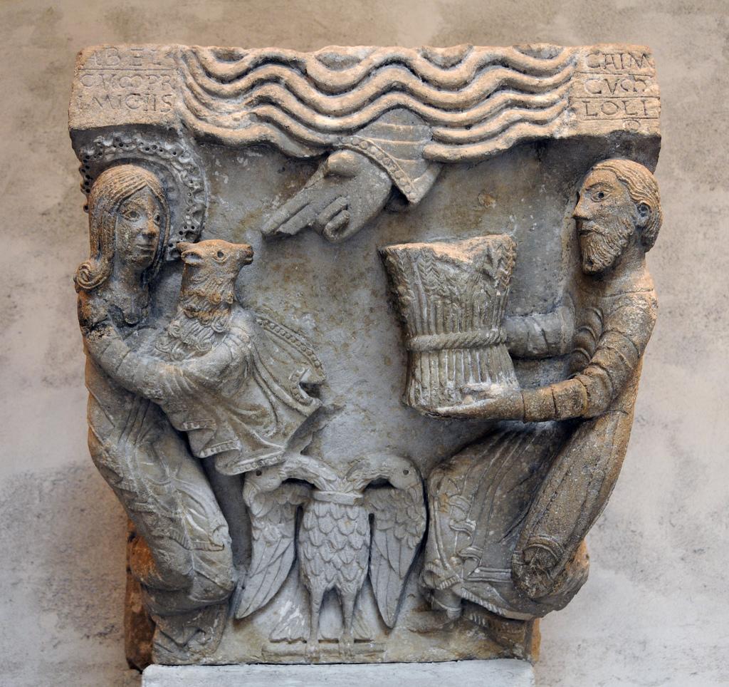 Capitel de Moustiers St. Jean -Sacrifice de Caïn et Abel