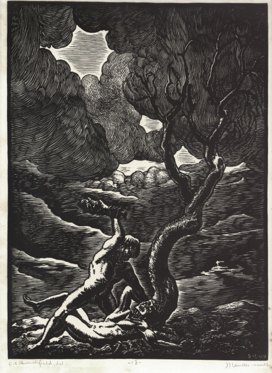 Charles Burchfield, Cain and Abel, circa 1923-26.