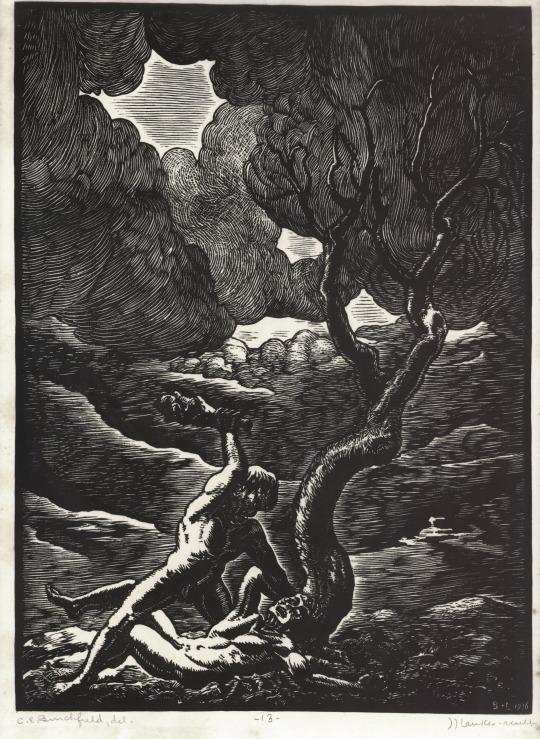Charles Burchfield, Cain and Abel, circa 1923-26.