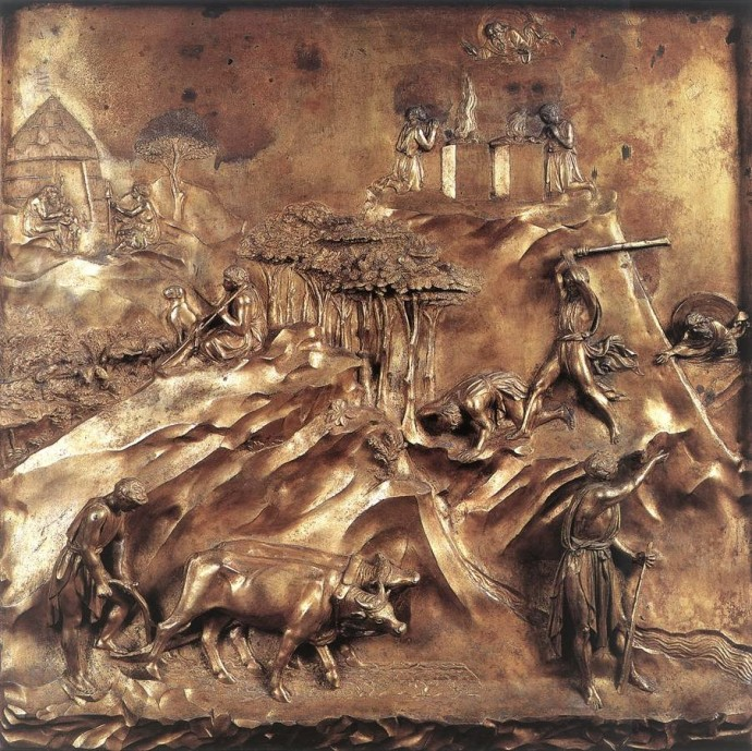 Ghiberti Lorenzo (1425-1452) -Cain and Abel -Door to the Florence Baptistry