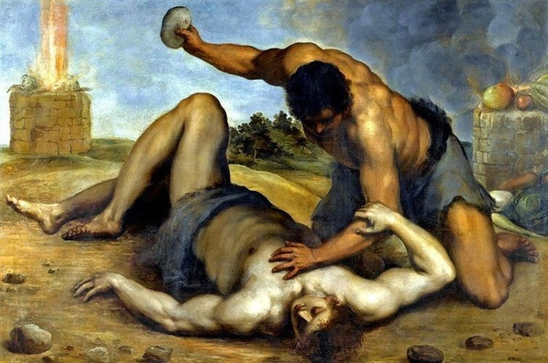 Jacopo Palma -Cain slaying Abel 1590