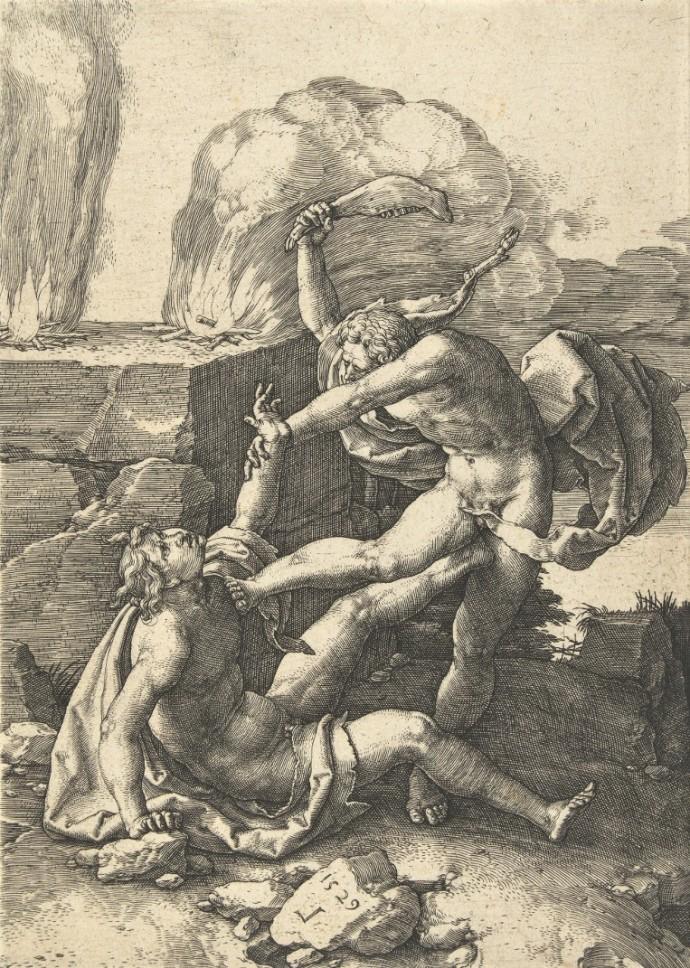 Lucas van Leyden -Cain kills Abel 1529