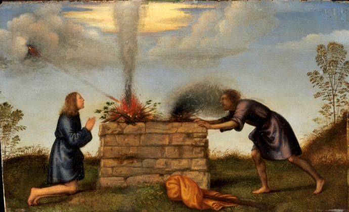 Mariotto Albertinelli -The Sacrifice of Cain and Abel ca.1510 Harvard Art Museums