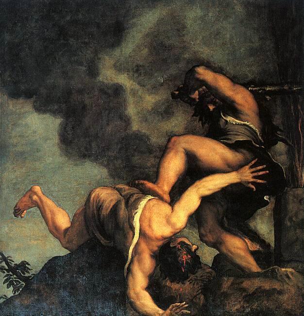 Tiziano -Cain i Abel 1542-44