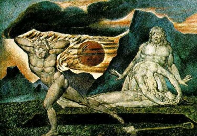 William Blake -Adam and Eve found the body of Abel