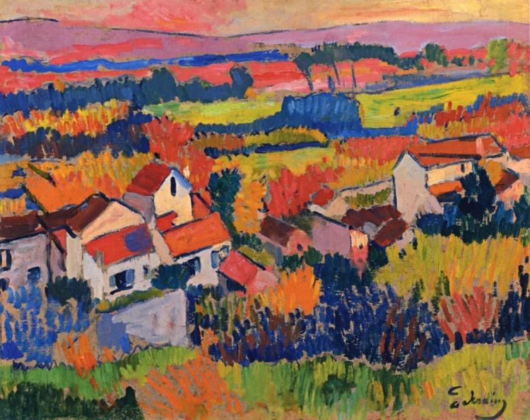 Derain -Landscape near Chatou 1904