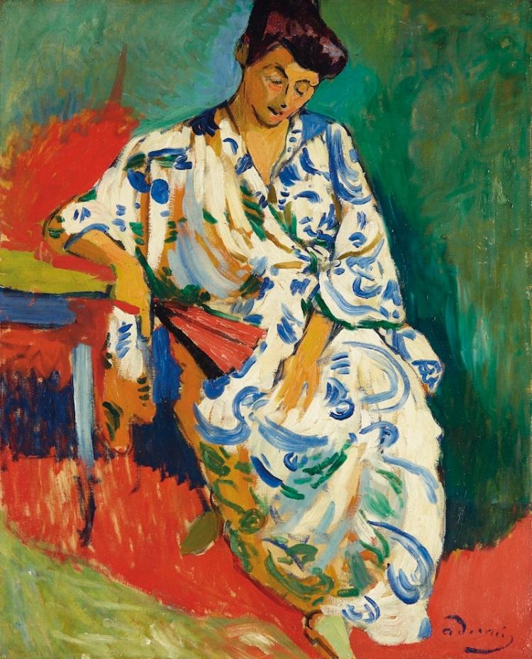 Derain -Madame Matisse au kimono
