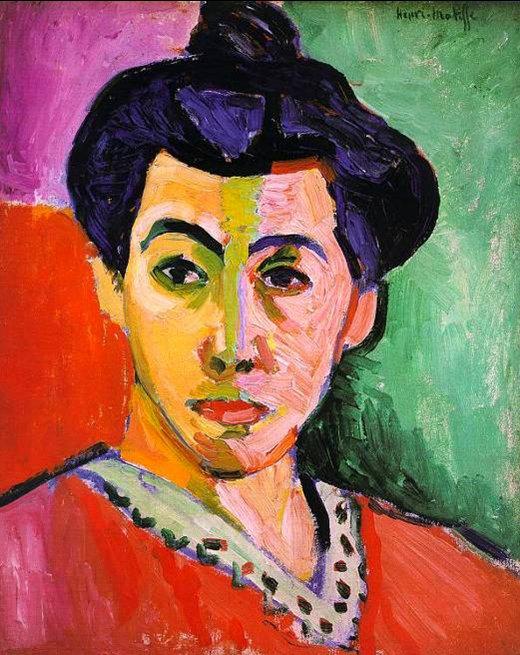 Matisse -Portrait de Mme. Matisse 1905
