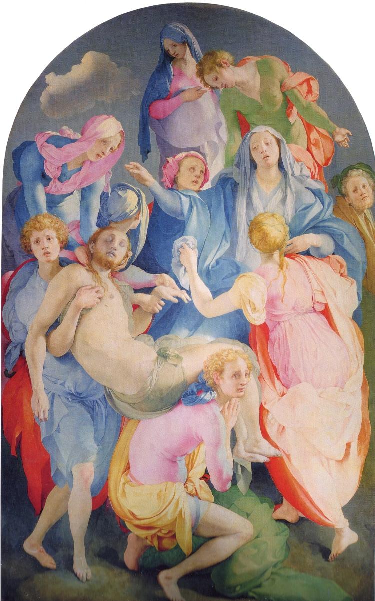 3Jacopo Pontormo -El davallament de la Creu, 1525-1528.
