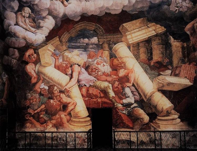 Giulio Romano -La caduta di Giganti detail Palazzo Te a Mantova b